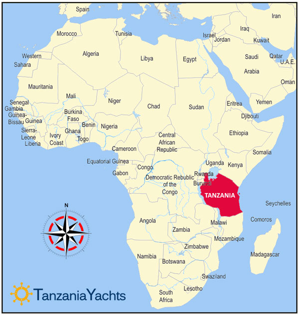 africa map with tanzania
