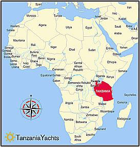 africa map showing tanzania